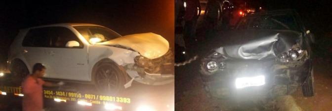 Caetité: Colisão entre veículos na BR-030 deixa três feridos