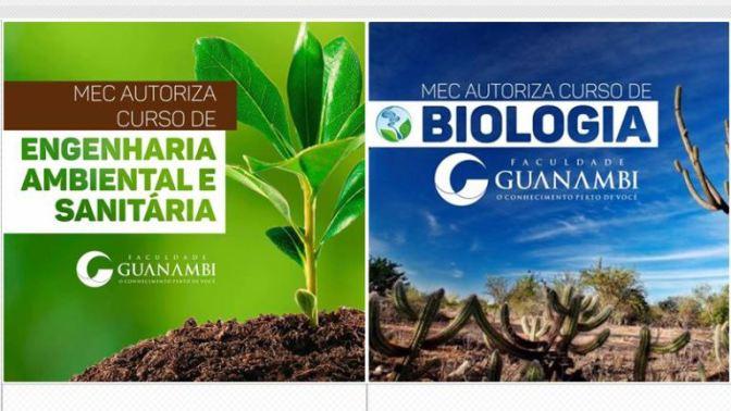Guanambi: MEC autoriza FG a ofertar cursos de Biologia e Engenharia Ambiental e Sanitária