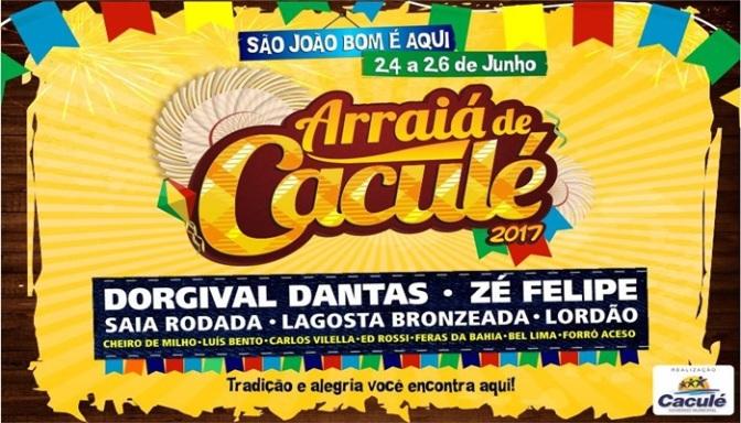 Divulgada a grade de atrações do São João de Caculé