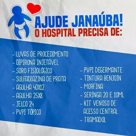 Guanambi: Hospital Regional pede sua ajuda em campanha para arrecadar materiais para hospital de Janaúba