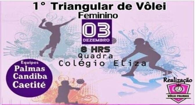 Candiba: Equipe feminina de vôlei Candibense participa do 1º Triangular de Voleibol que será realizado domingo (3/12) em Palmas de Monte Alto