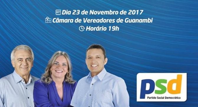 Ato de filiação de Charles Fernandes no PSD será dia 23 de novembro em Guanambi