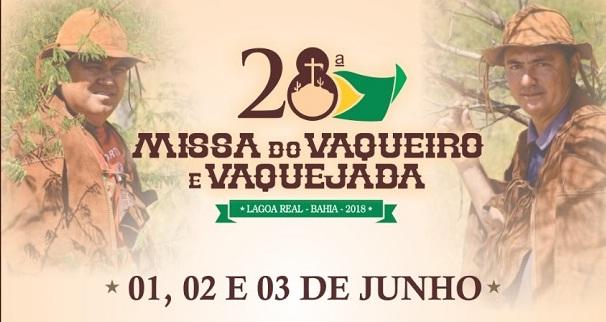 Confira as atrações da 28ª Missa do Vaqueiro e Vaquejada de Lagoa Real
