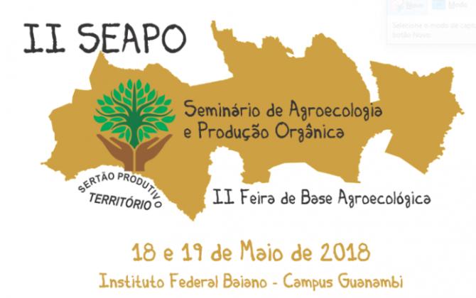 IF Baiano realiza Seminário e Feira de Agroecologia e Produção Orgânica nesta sexta e sábado