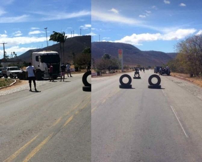 Guanambi: Caminhoneiros bloqueiam BR-030 contra aumento de combustíveis