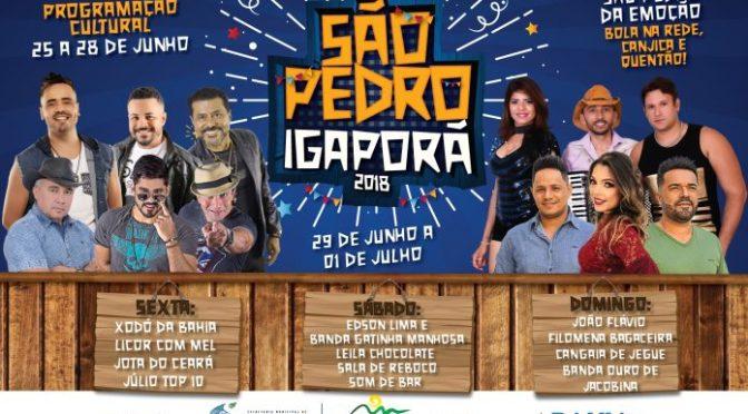 Prefeitura de Igaporã divulga programação do São Pedro 2018