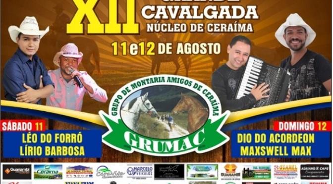 Cavalgada de Ceraíma acontece neste sábado (11) e domingo (12)